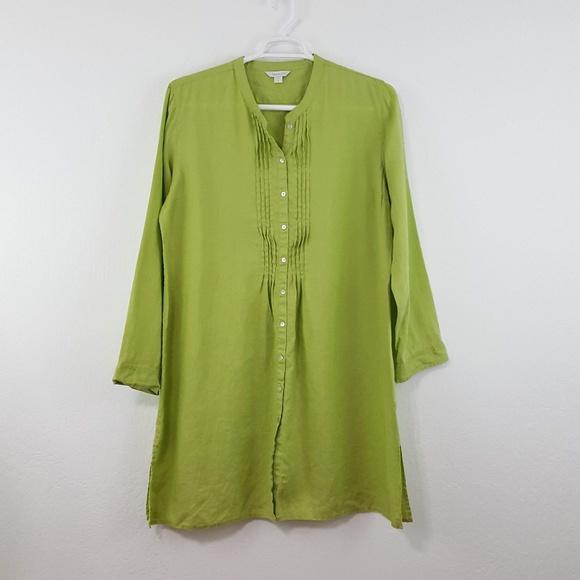 33f86c00cac Garnet Hill Dresses   Skirts -  Garnet Hill  Lime Green Linen Tunic Shirt  Dress